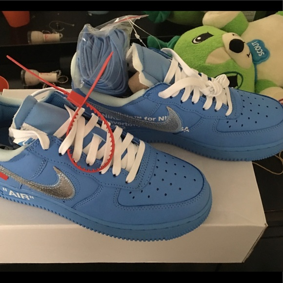 Blue Off White Mca Air Force Ones